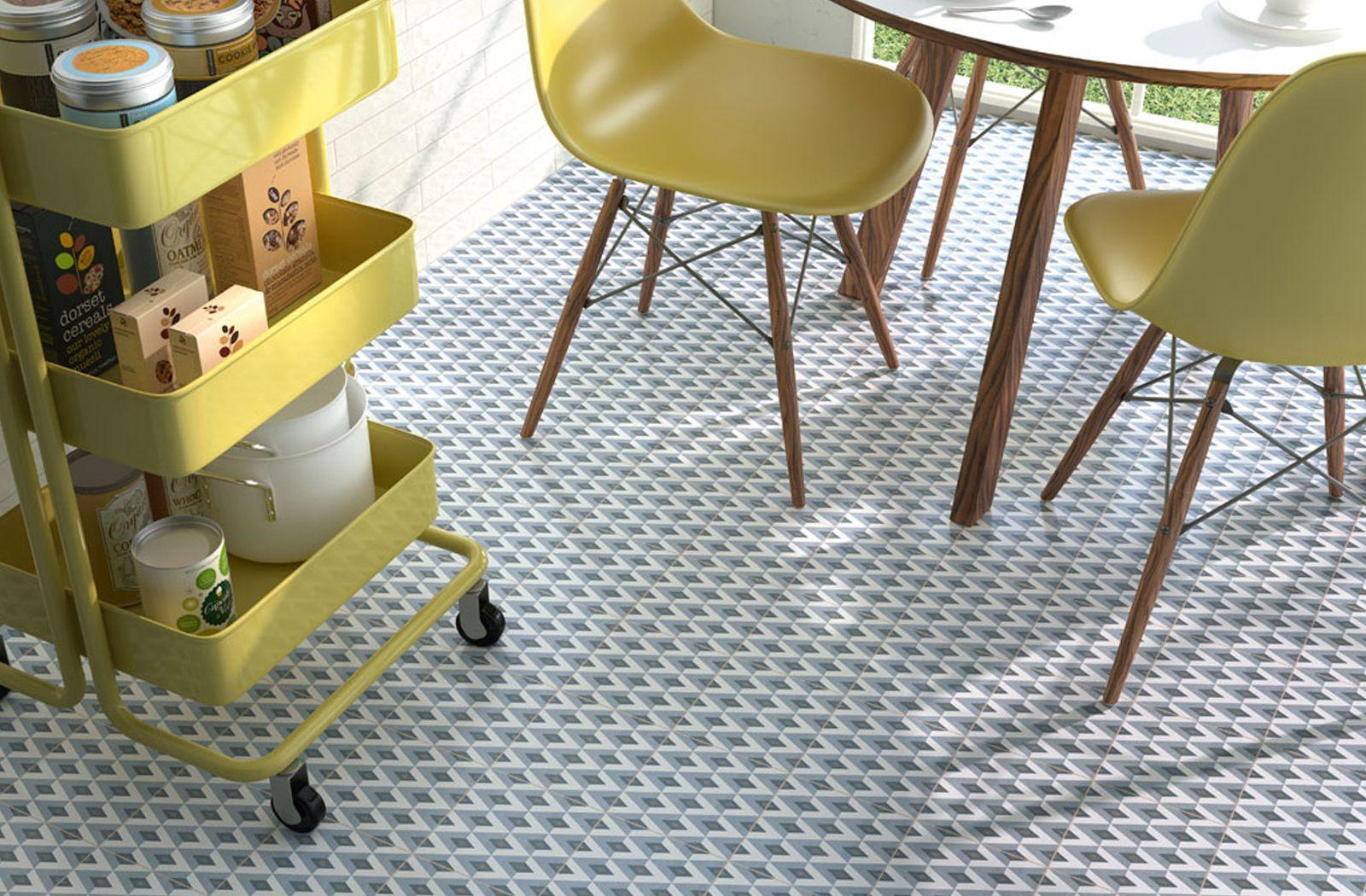 colour quirky dining space decor  fiorella tileape