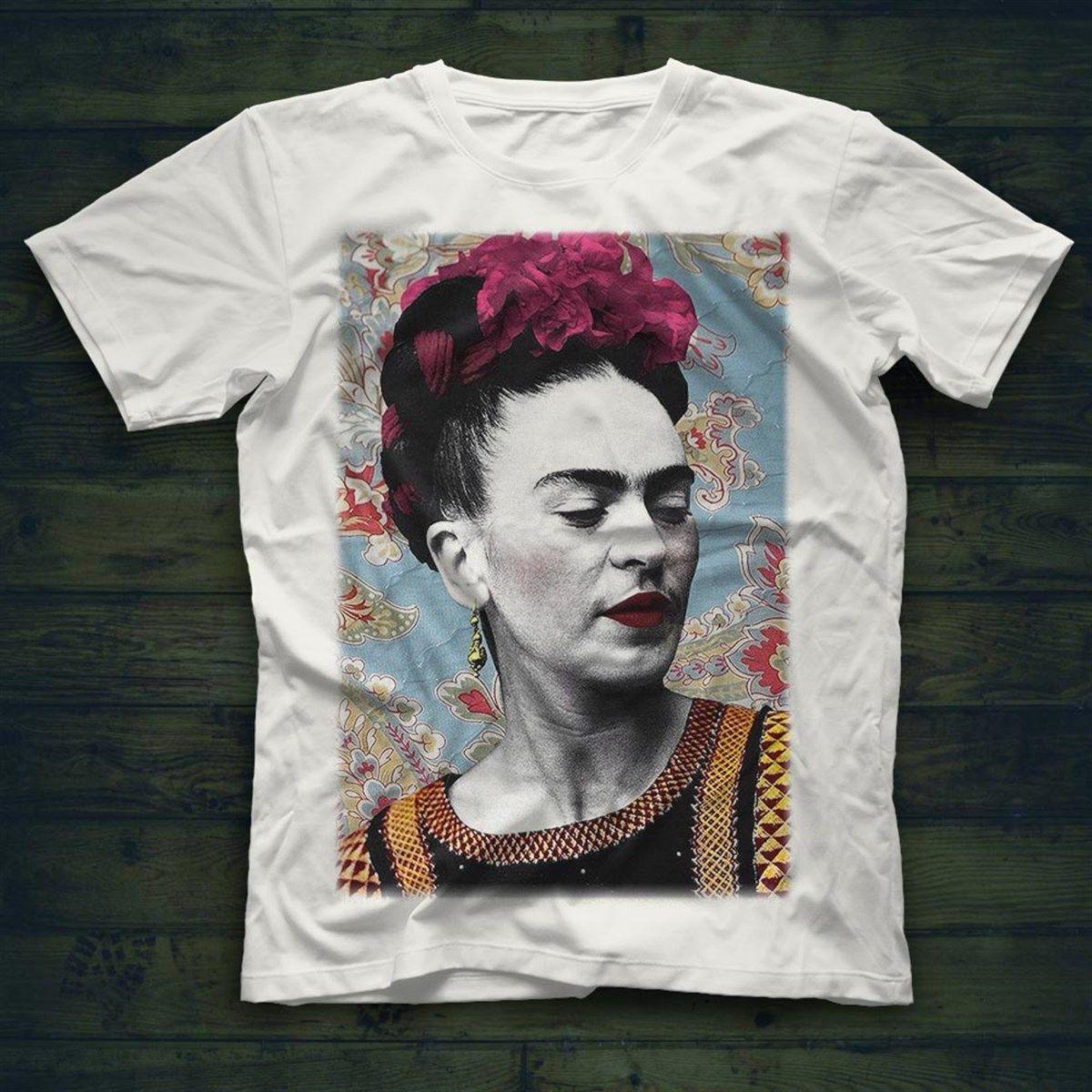Unisex T-Shirt Frida Kahlo Shirts For Men Women White T Shirts