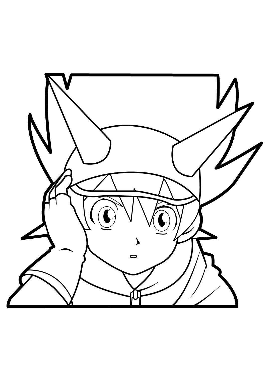 Beyblade coloring pages related pictures pages dinosaur for Body outline coloring page