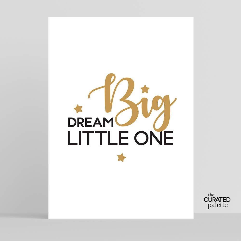 Dream big quotenursery printnewborn printbaby sayingnursery art
