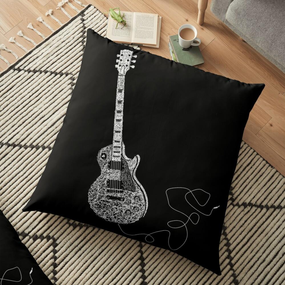 Housse pour coussin Gibson Les Paul Guitare Coussin, Gibson Les Paul Guitar