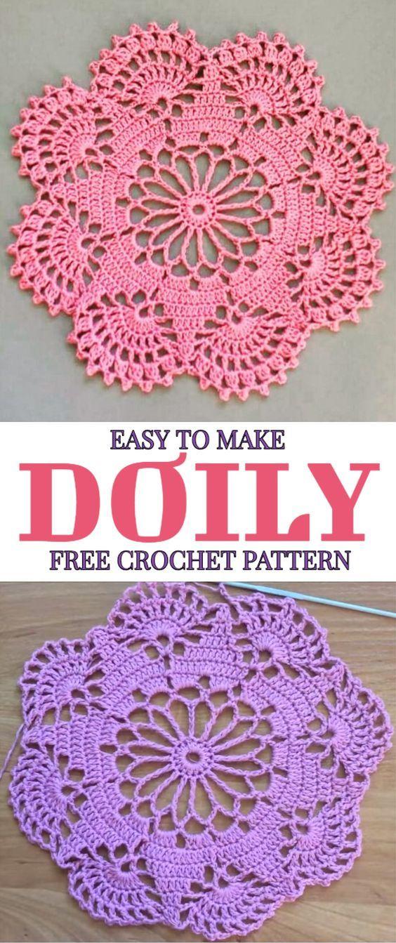 Easy To Make Doily Free Crochet Pattern Beautiful Crochet Crochet