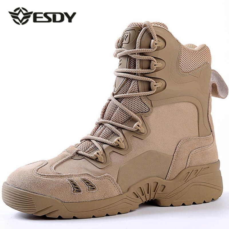 929e7fe93dab3 sale esdy winter mens desert camouflage genuine leather army combat boots  men high military #desert #combat #boots