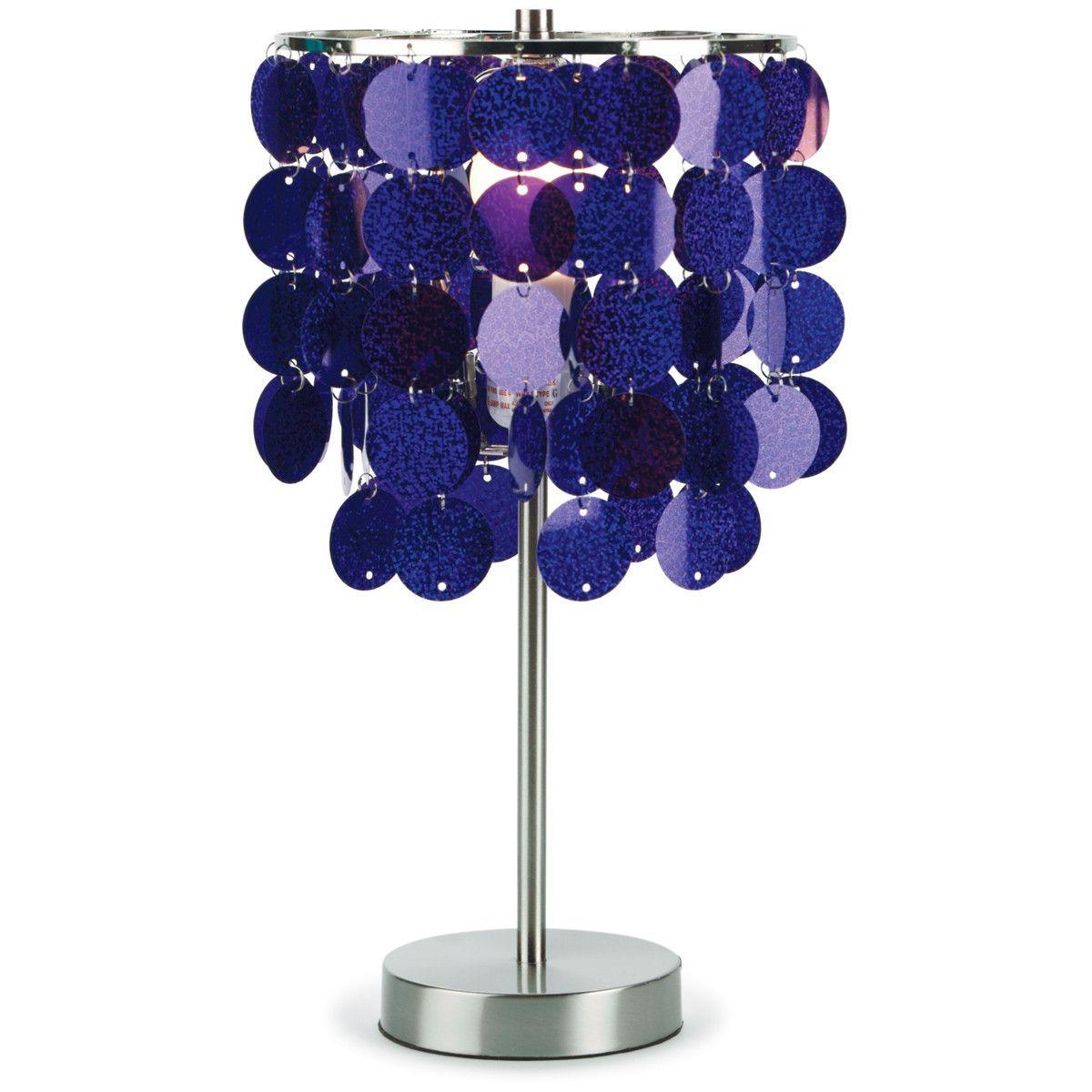 3c4g Purple Paillette Table Lamp | Purple lamp, Purple ...