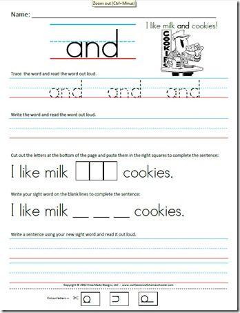 Trace It! Write It! Read It! Sight Word Intervention *1st Grade ...