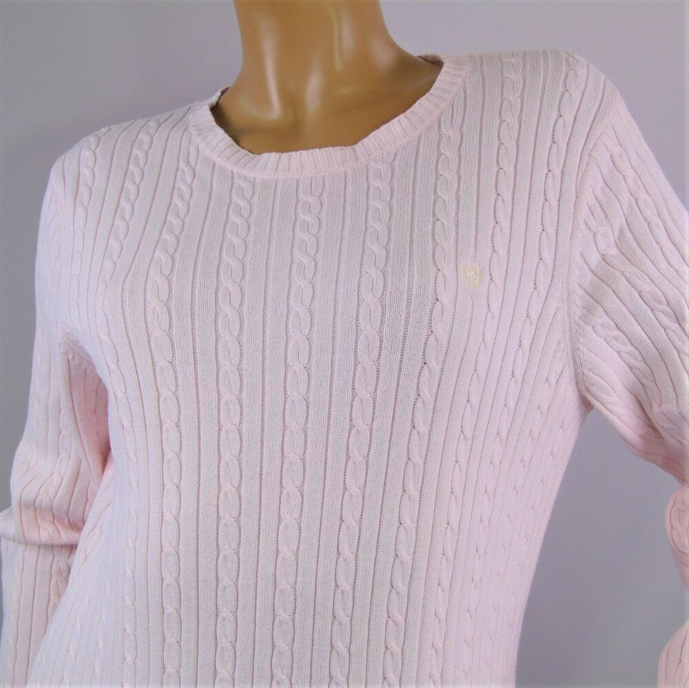 Chaus Womens Long Sleeve Ribbed Pullover Sweater