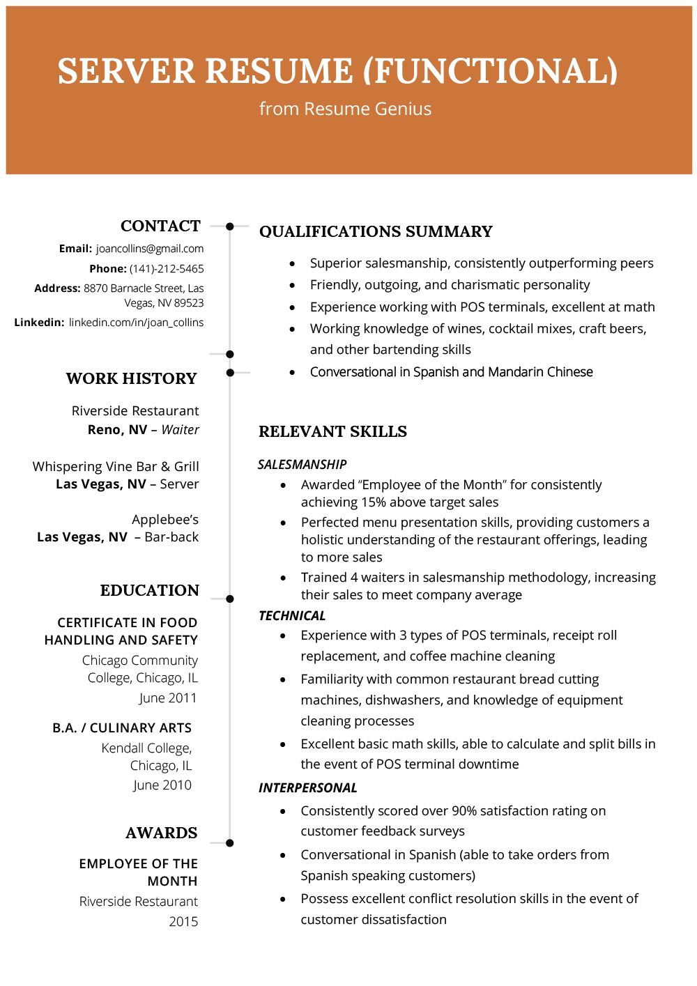 A resume summary is a brief list in just a few sentences ...