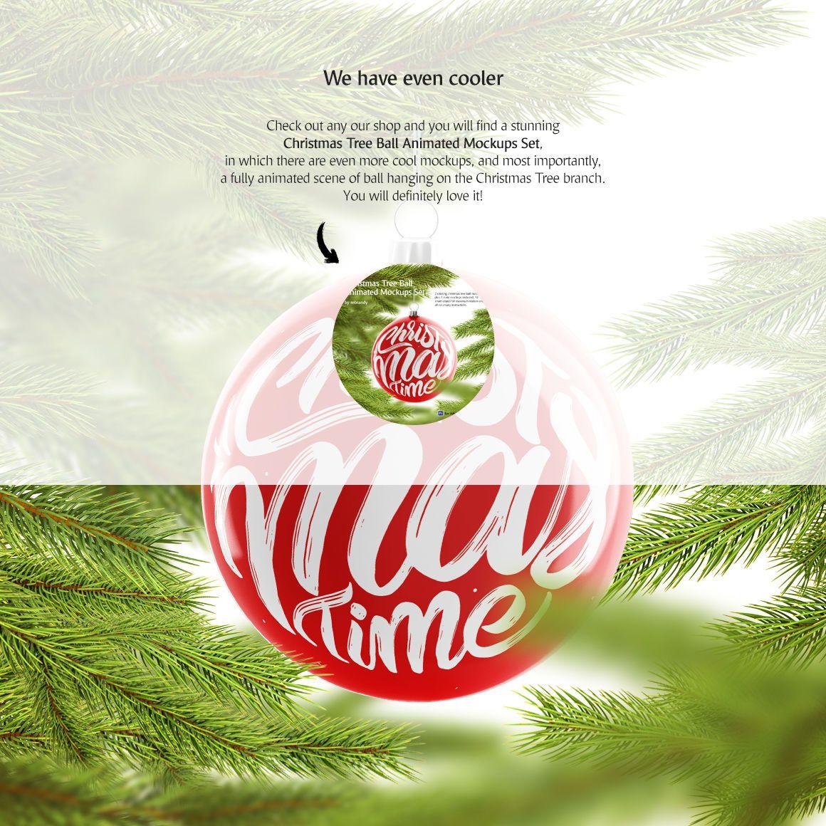 Christmas Tree Ball Animated Mockup By Rebrandy Thehungryjpeg Com Ball Ad Tree Christmas An Buy Christmas Tree Christmas Tree Christmas Tree Branches