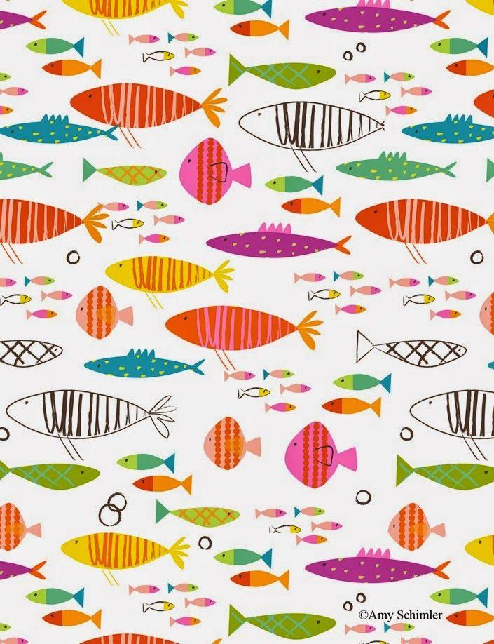 Imprimibles peces | Peces | Pinterest | Estampado, Tarjetas de bebé ...