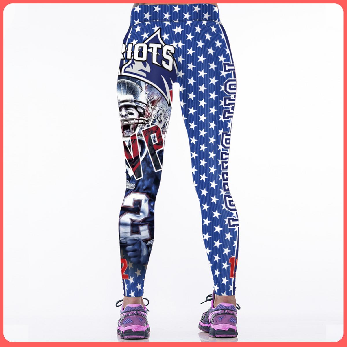 I Love New England Patriots Women S Sports Leggings Printed Yoga Pants Sports Leggings