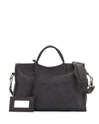 Blackout City Aj Shoulder Bag Black By Balenciaga At Neiman Marcus