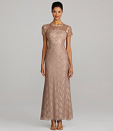JS Collections ShortSleeve Lace Gown, Mother Of The Bride Dress