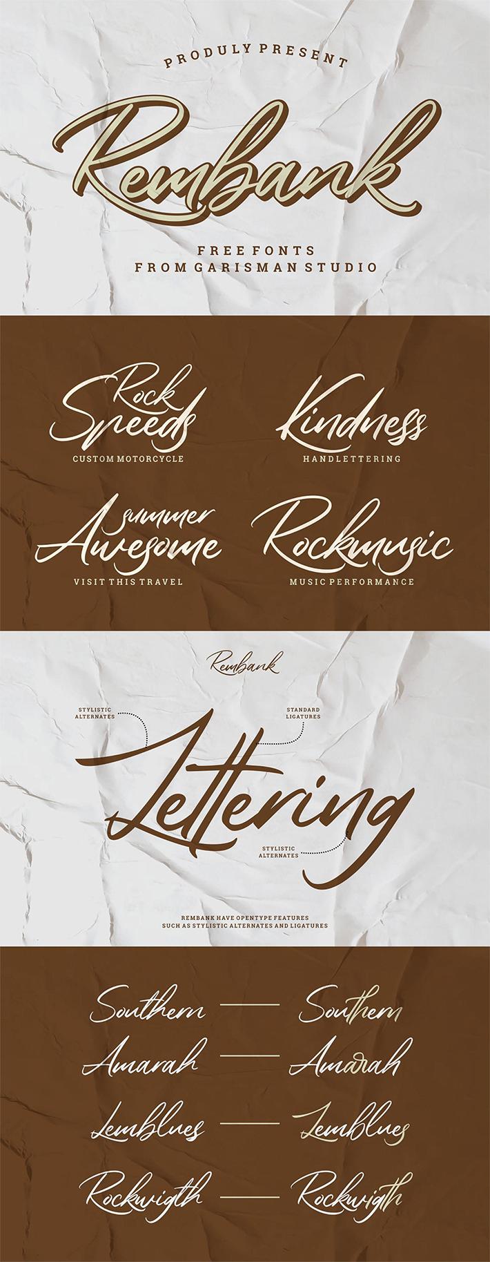 Freebie Modern Handwritten Script Font For Designers