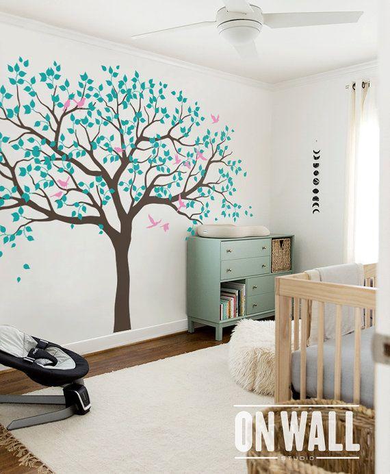 Großer Baum Wall Decals Bäume Decal Baumschule Baum Wandtattoo, Baum  Wandbild, Vinyl Wall Decal