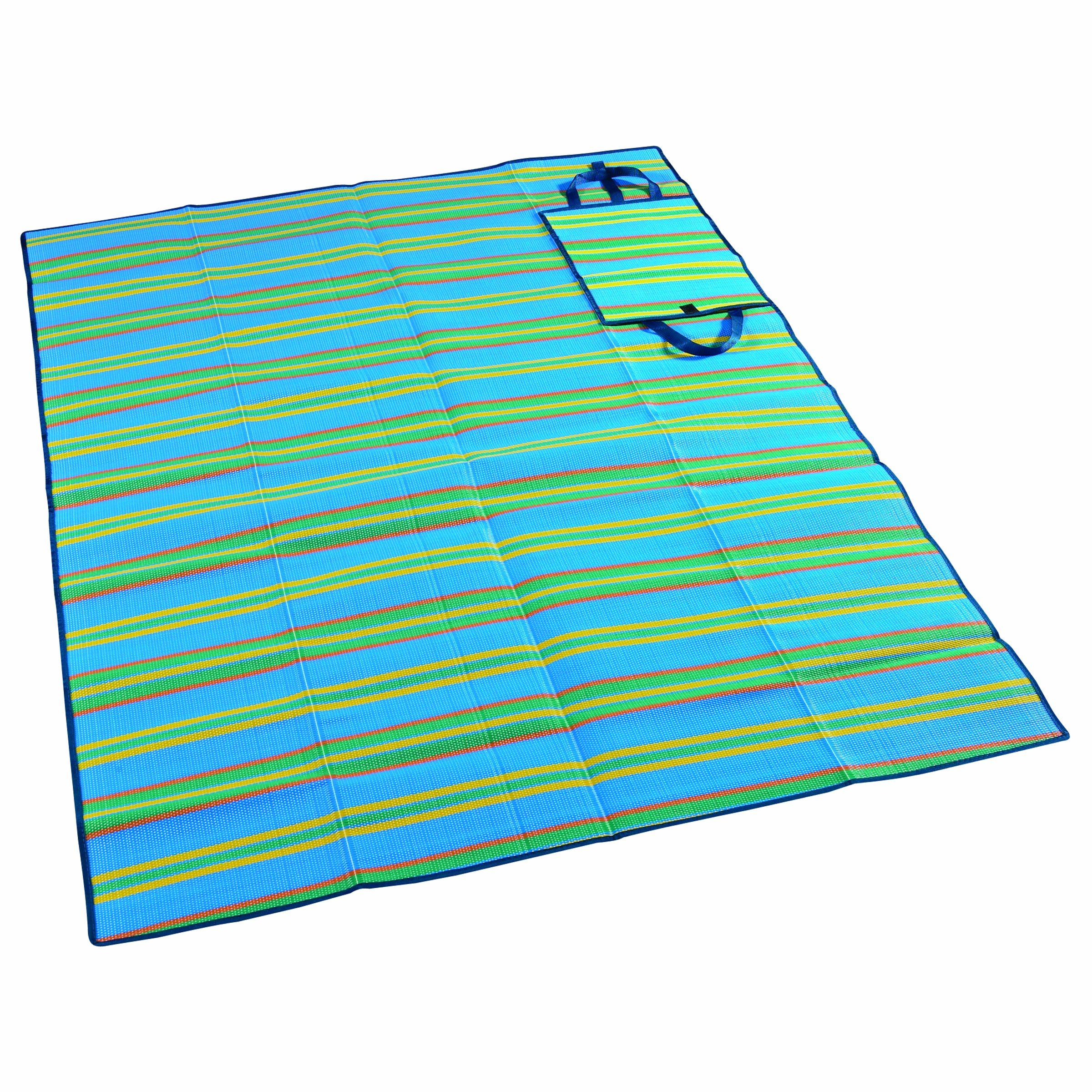 Amazon Com Wenzel Multi Purpose Ground Mat Black And White Stripes Picnic Blanket Sports Outdoors