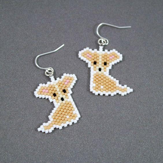 Chihuahua Earrings | beading earrings | Pinterest | Beads ...