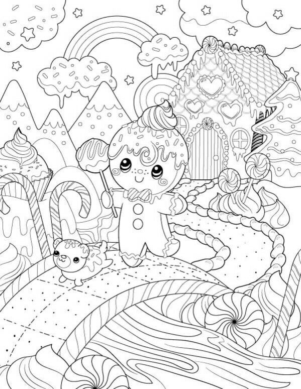 Gingerbread picture | animados | Christmas coloring pages, Christmas ...