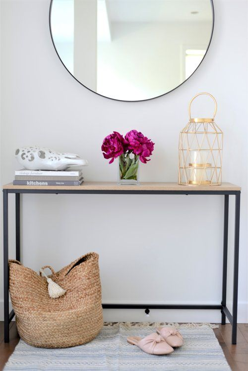 Bright And Modern Front Entry Entryway Table Decor Small Entryway Table Entry Table Decor