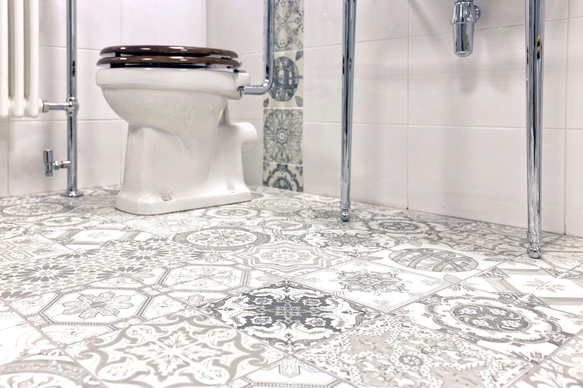 Aramean Glossy Grey Tile 200 x 200mm Easy bathroom store derby ...
