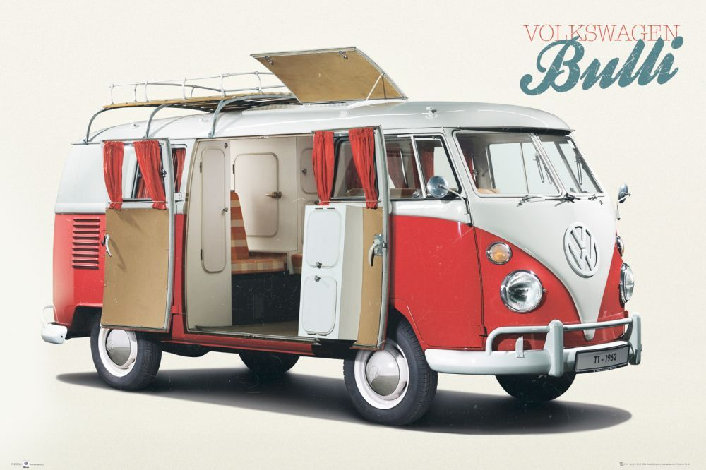 poster vw camper bulli online te koop bestel je poster. Black Bedroom Furniture Sets. Home Design Ideas