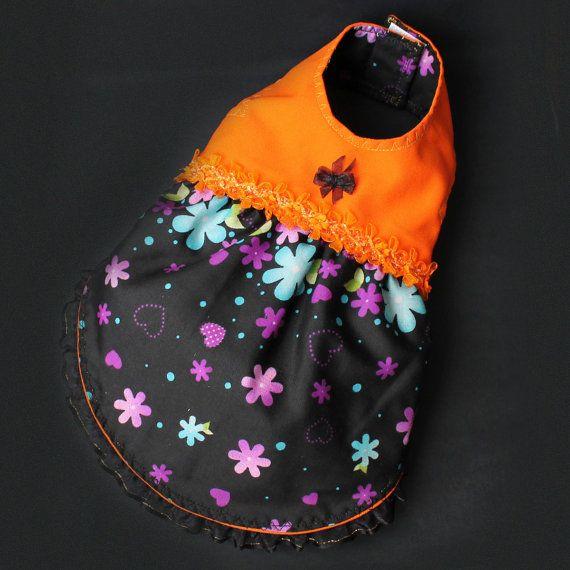 Orange Dog reversible dress / Kitty Dress by ILoveTjCrafts on Etsy
