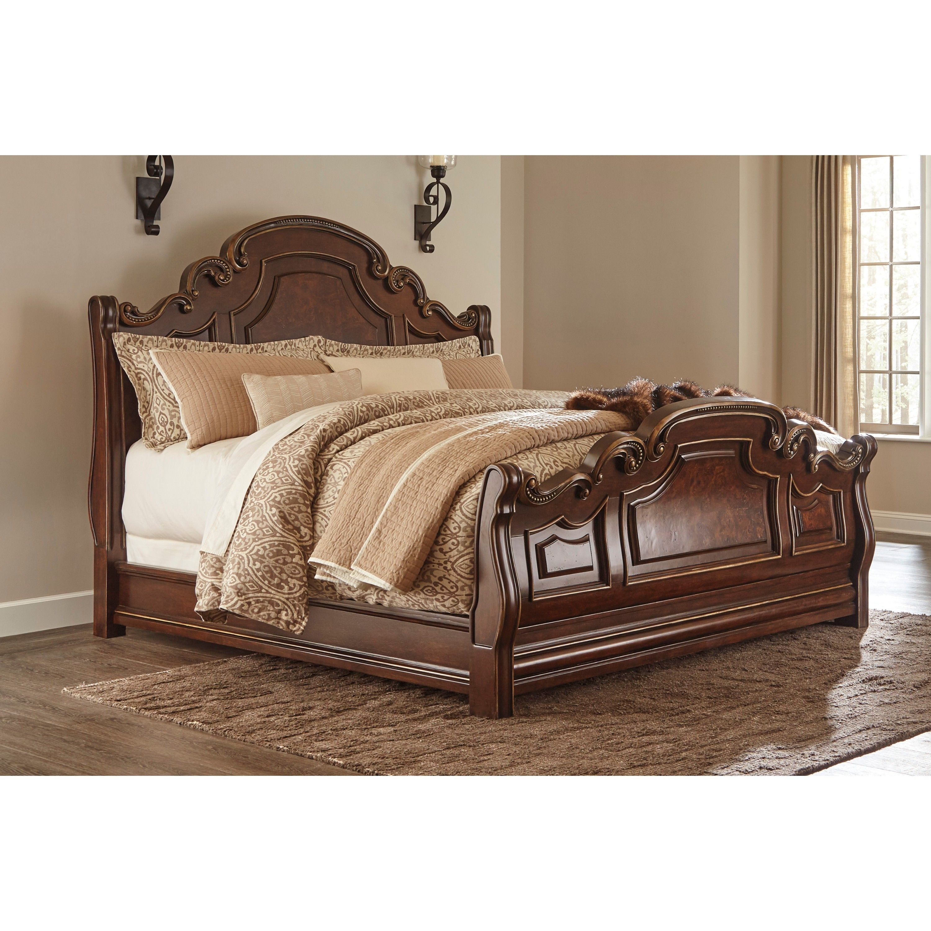 Overstock Com Online Shopping Bedding Furniture Electronics Jewelry Clothing More Sleigh Beds King Sleigh Bed Ashley Furniture