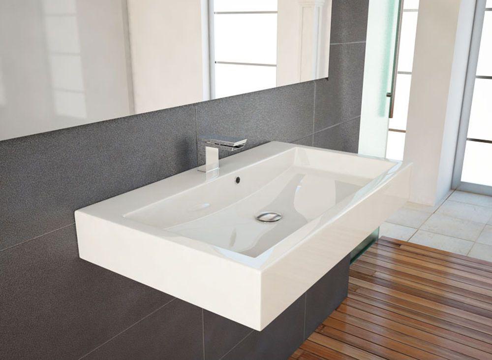 design waschbecken waschtisch 70cm zur wandmontage geeignet keine keramik badausstattung. Black Bedroom Furniture Sets. Home Design Ideas