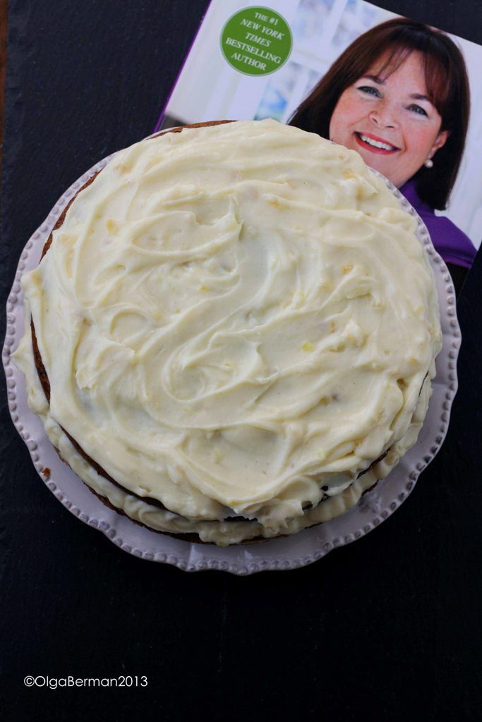 Ina Carrot Cake : carrot, Garten's, Carrot, Mascarpone, Crystallized, Ginger, Icing, Foolproof, Cookbook, Dessert, Recipes,, Baking, Recipe