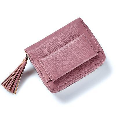 NEW Brown Women/'s Wallet Mini Zip Around Wallet Card Coin Wallet