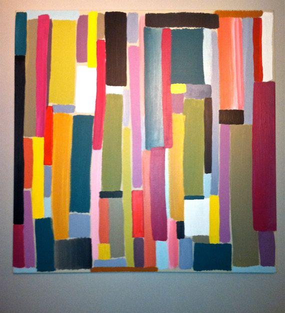 Color Block Painting Multi Colored Bright 3 X3 By Colegargaro
