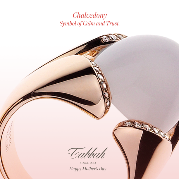 Adorned With A Chalcedony Symbol Of Calm And Trust The Elegance