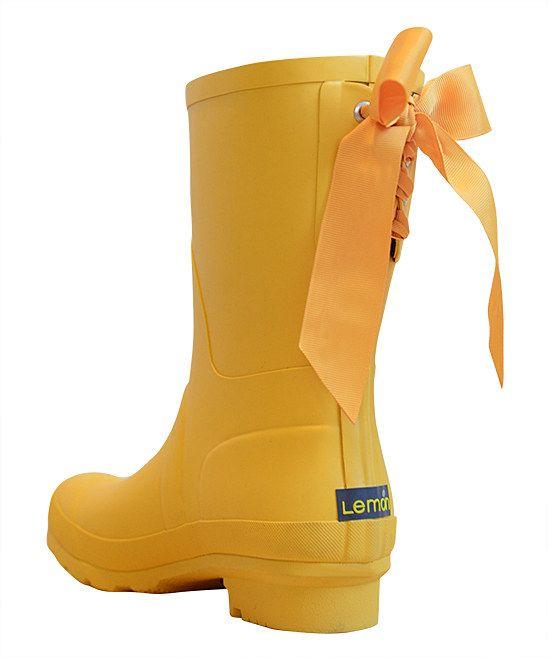 duck yellow ribbon short rain boots - Duck Rain Boots