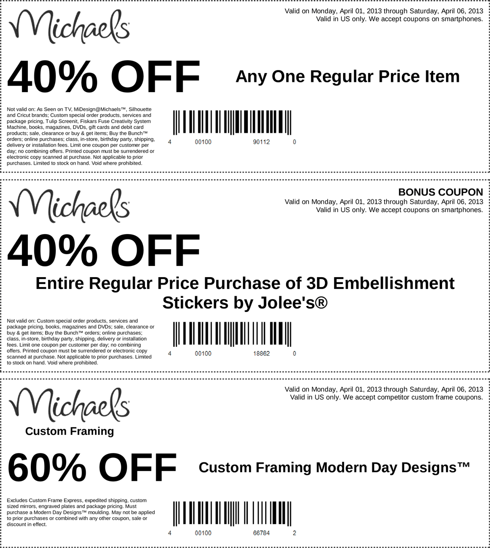 40 off a single item and more at michaels coupon via the coupons app
