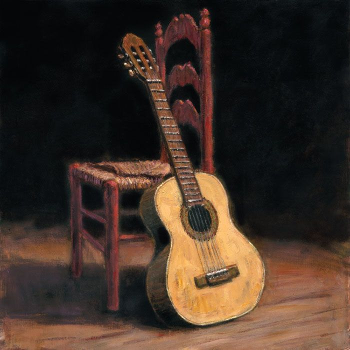 Spanish Guitar Painting Like This For The Music Room