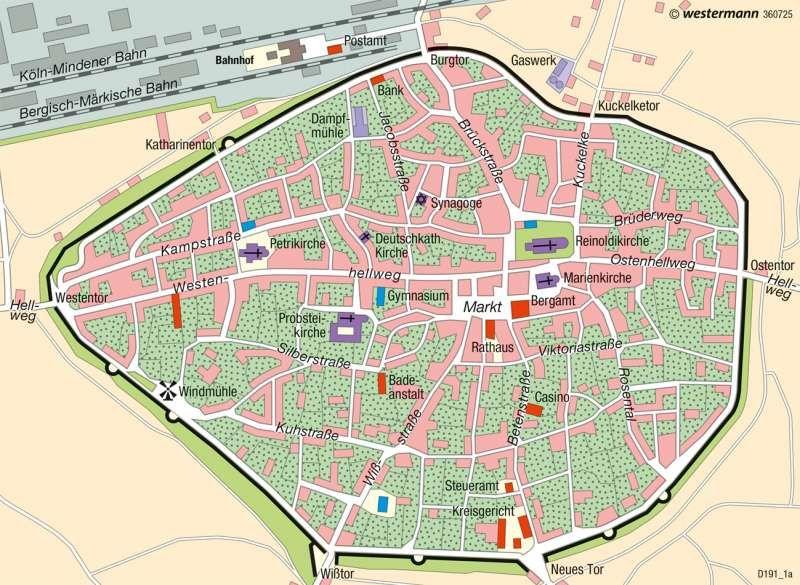 Dortmund Innenstadt Deutschland Historische Stadtentwicklung Karte 75 4 Innenstadt Kartenansicht Dortmund
