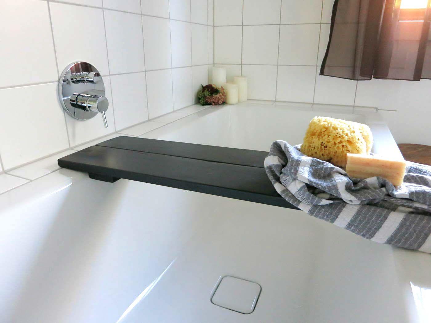 Badewannenablage Schwarz Bauholz Bauen Mit Holz Ablage Und