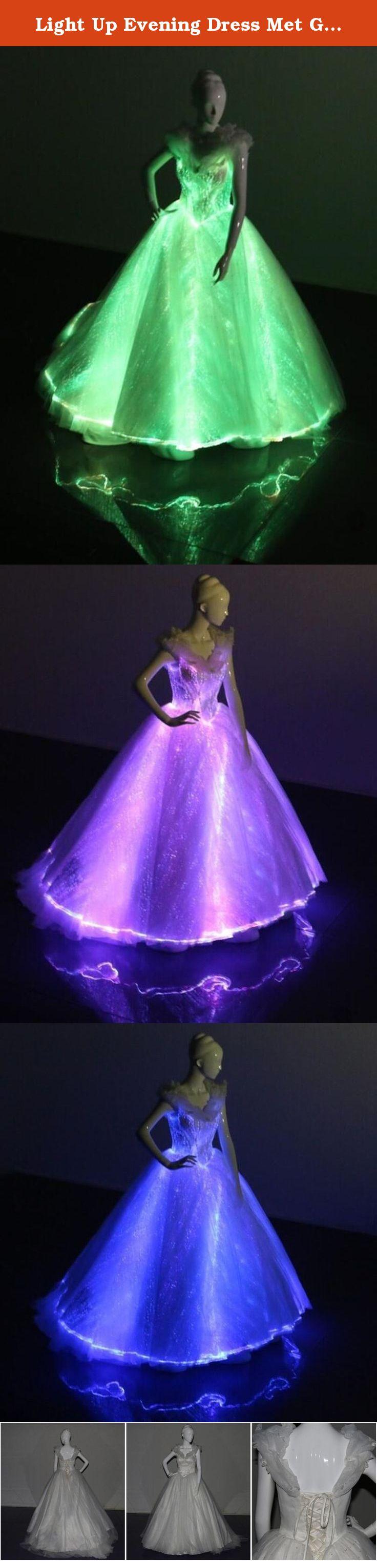 Fiber optic wedding dress  Light Up Evening Dress Met Gala Gown Glowinthedark Wedding Dress