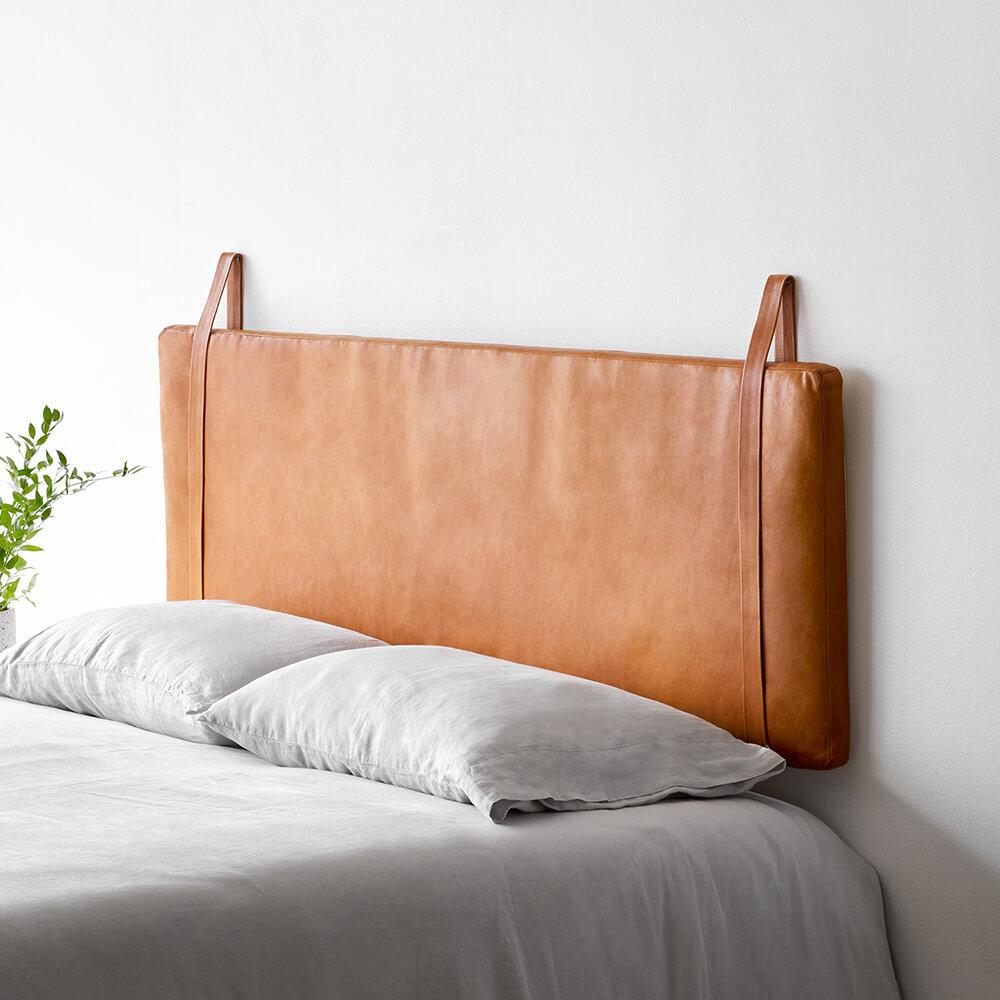 Hanging Leather Headboard In 2020 Leather Headboard Modern Bed Frame Modern Bed