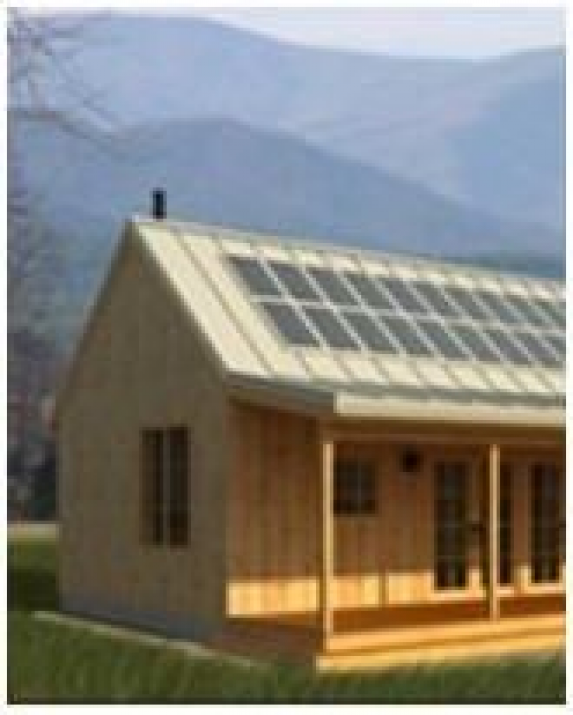 1451 Free Building Plans And Do It Yourself Building Guides Photo Solar Cabin Plans From Freegreen Com Ho En 2020 Planos De Construccion Casa Solar Cobertizo Taller