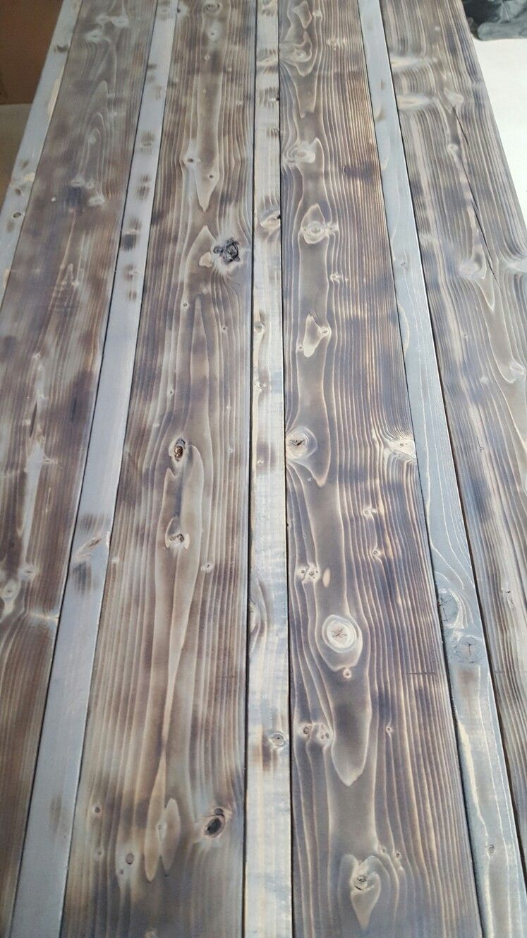 Minwax Classic Gray Stain On Pine Prior To Poly Stain On Pine Grey Stained Wood Staining Wood