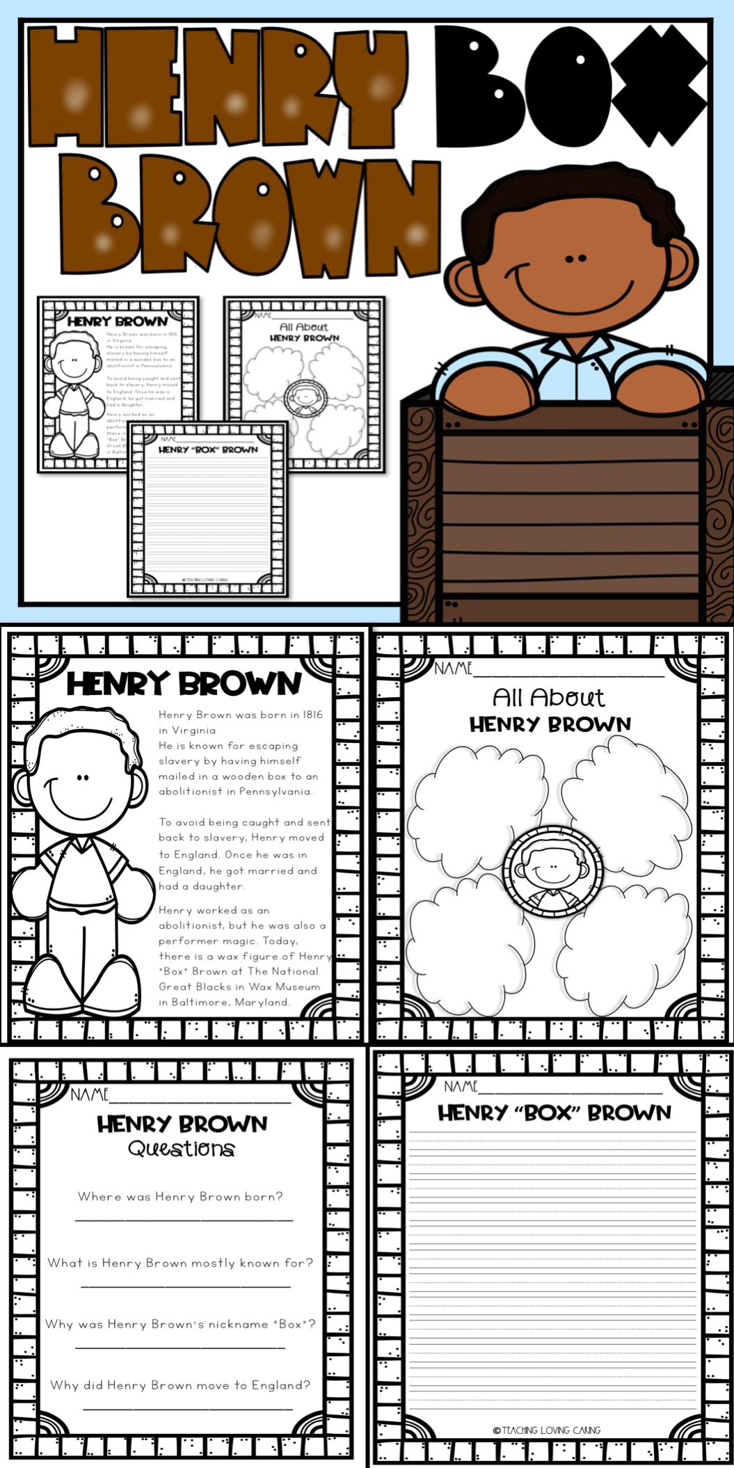 Henry Box Brown Activities