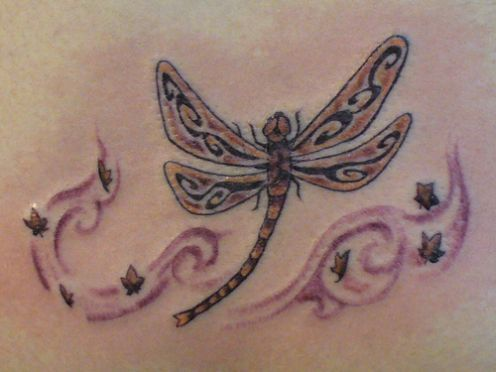 100013478f16a images of dragonflies tattoos | Tribal Dragonfly Tattoo Design ...