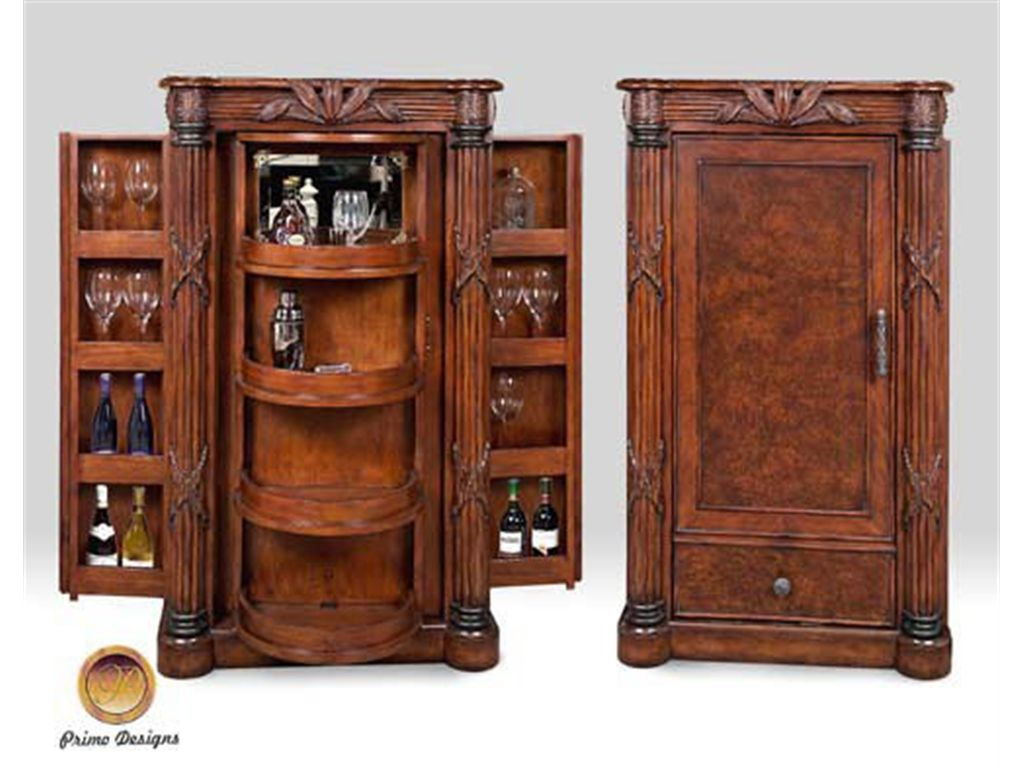 Primo Design Living Room Euro Bar Cabinet 7272 43