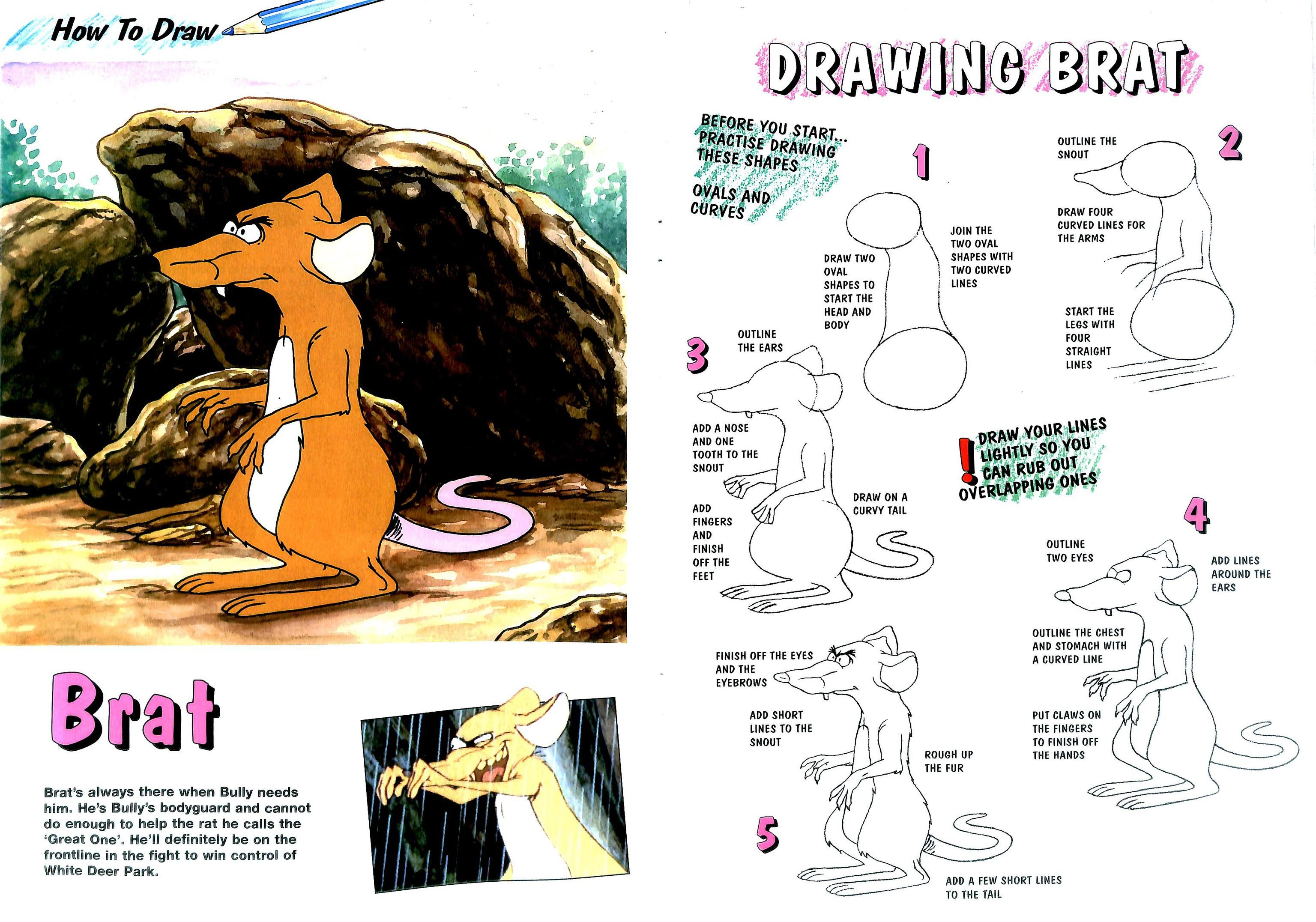 How to Draw Brat Tiere des waldes, Tiere, Wald
