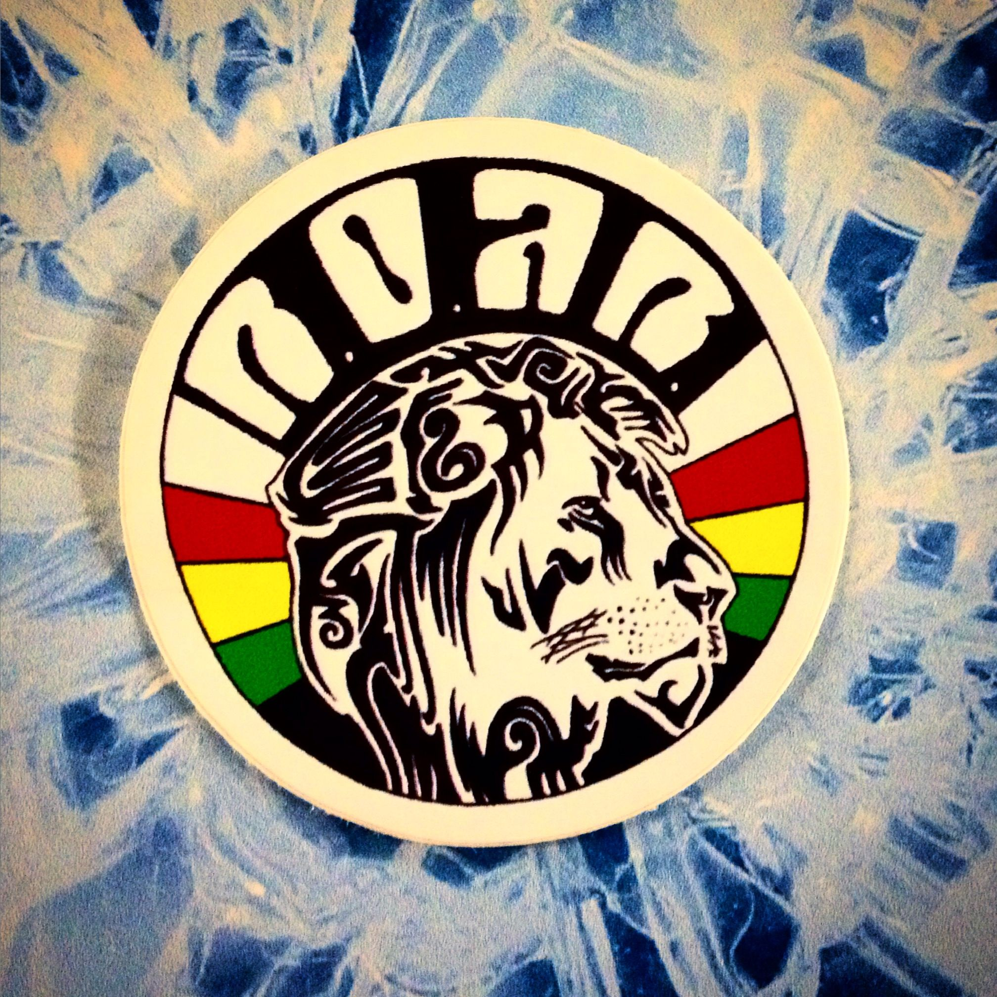 Roar rasta lion stickers bumper stickers die cut stickers and decals printed on outdoor vinyl full color any shape no set up fees