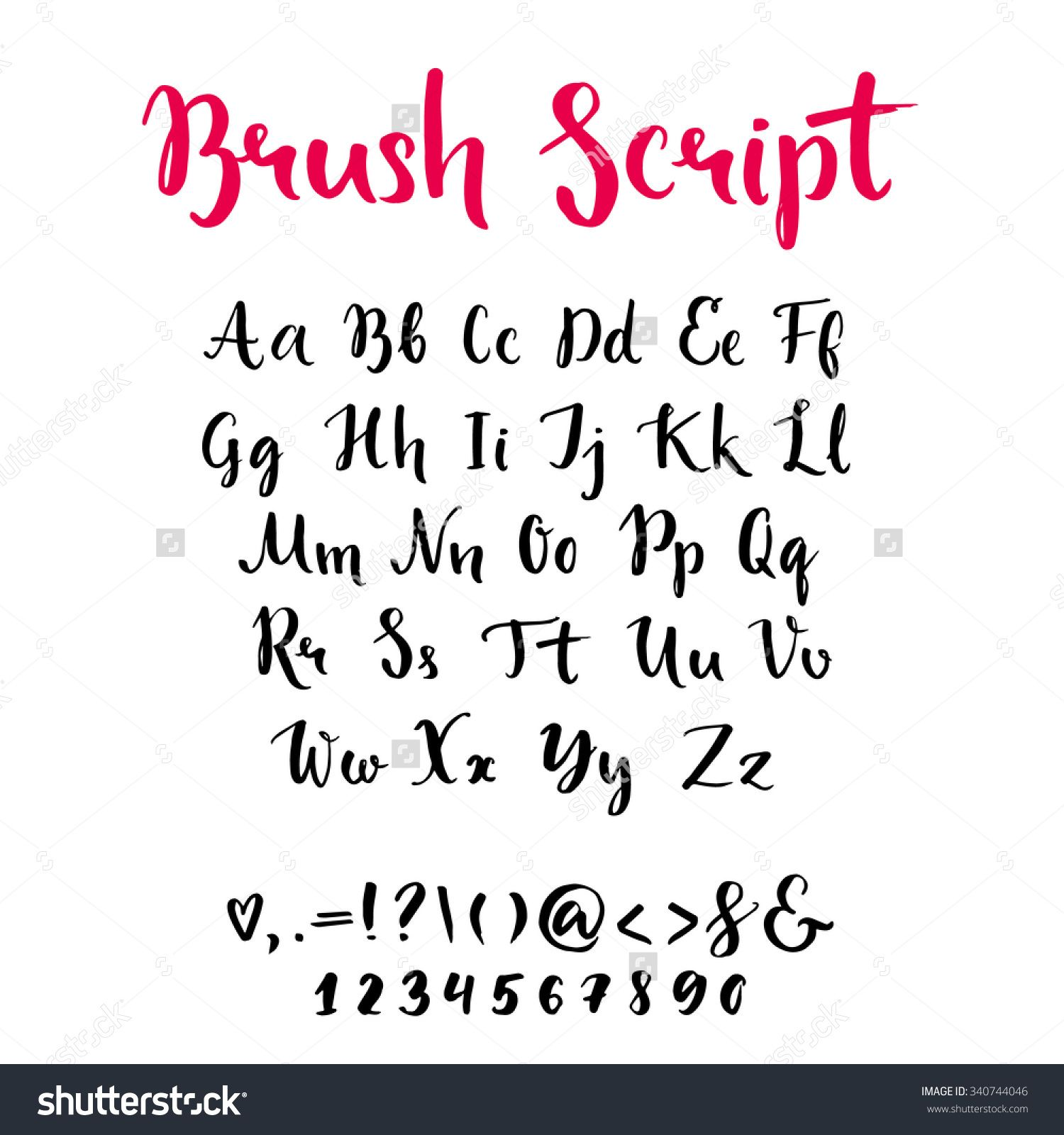 Brush Script With Lowercase And Uppercase Letters