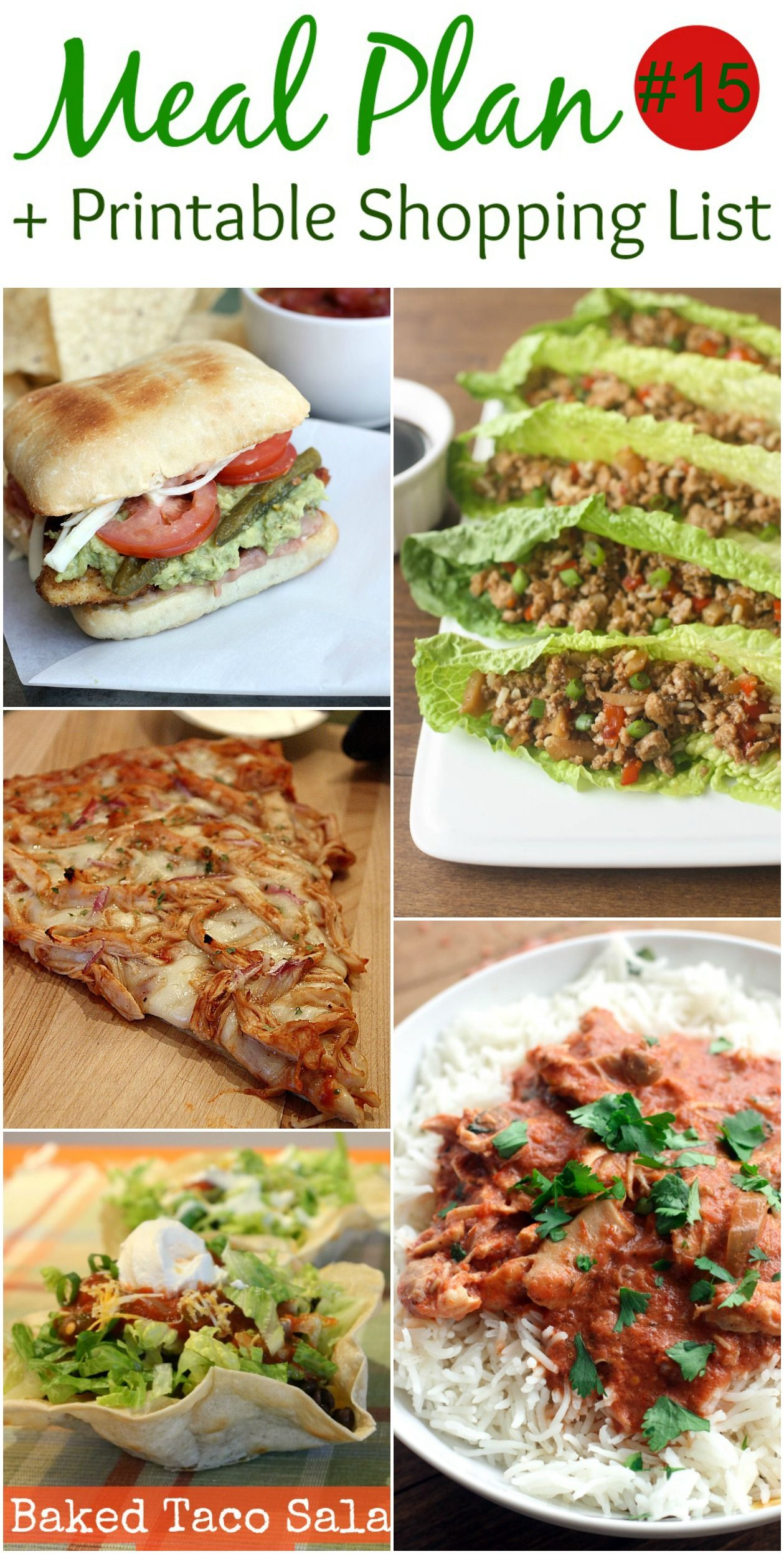 Weekly Meal Plan 15