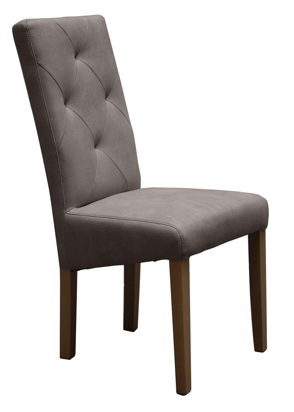 Chaise salle à manger taupe capitonnée MANOIR | Salle à