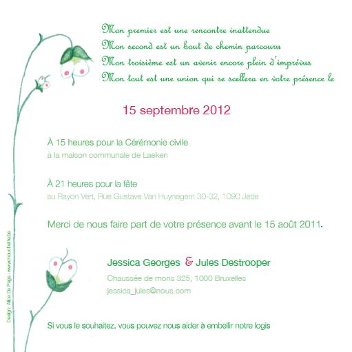 Alice De Page Realisation De Faire Parts De Naissance Et Mariage Faire Part Faire Soi Meme Mariage