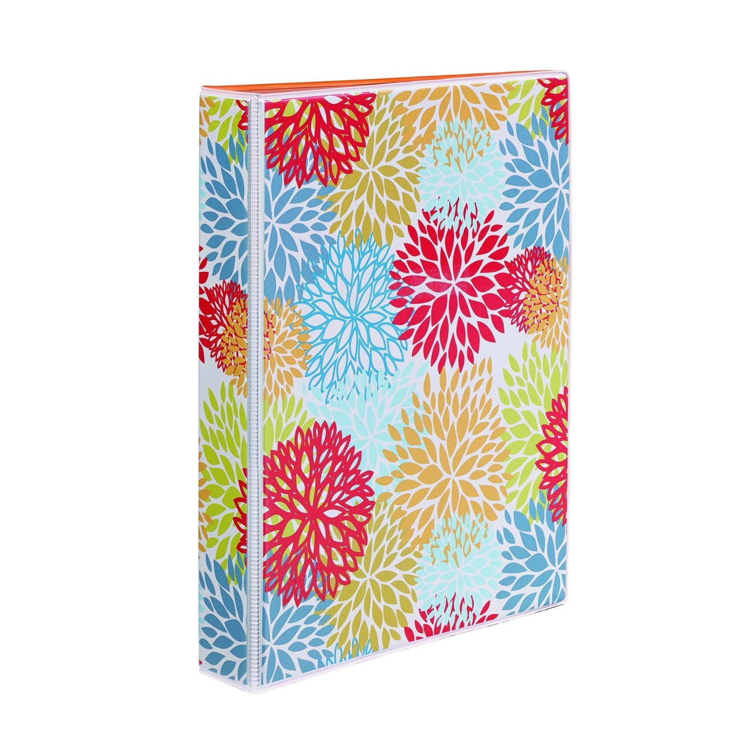 amazoncom avery 5 12 x 8 12 inches mini durable style binder with 1 inch round rings painted floral 18444 office products